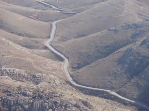 The road that leads to Mount Nemrut