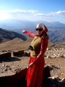 Me at the top of Mount Nemrut