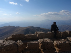 Mu at the top of Mount Nemrut