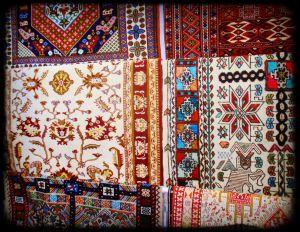 These beauties sit in a carpet shop in Şanliurfa